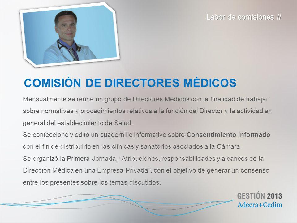 COMISIÓN DE DIRECTORES MÉDICOS