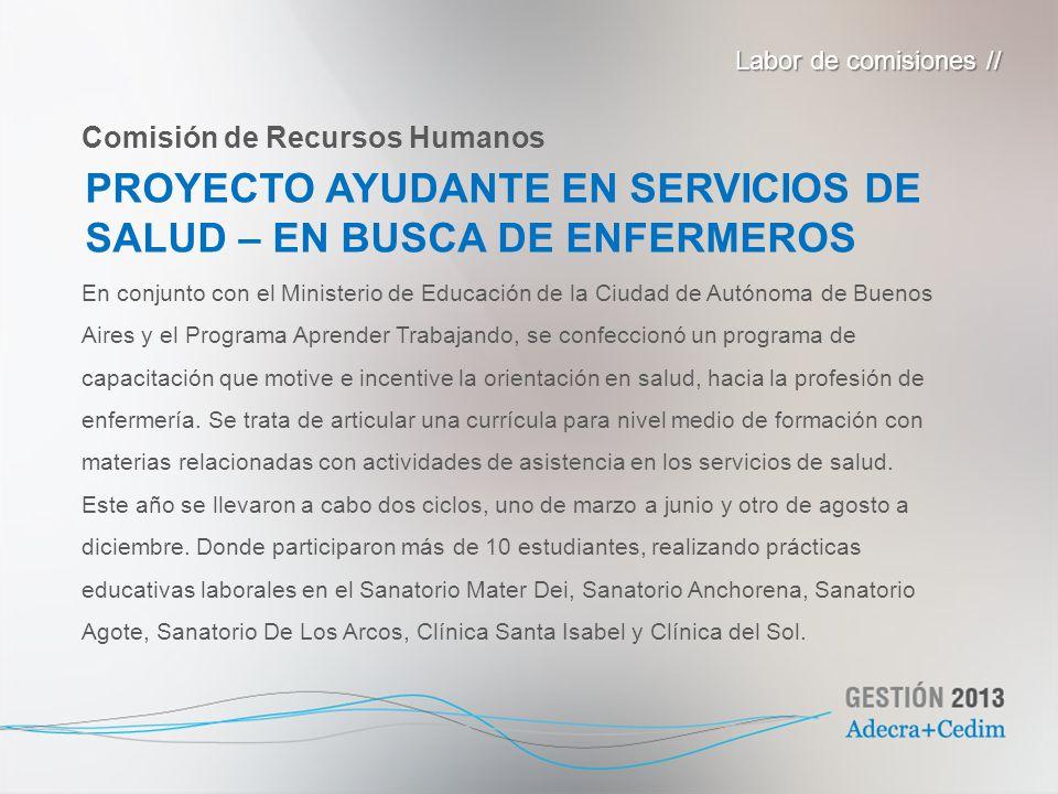 PROYECTO AYUDANTE EN SERVICIOS DE SALUD – EN BUSCA DE ENFERMEROS