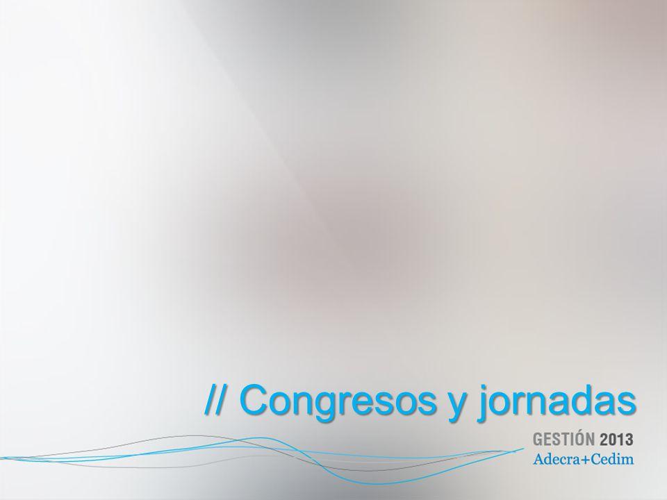 // Congresos y jornadas