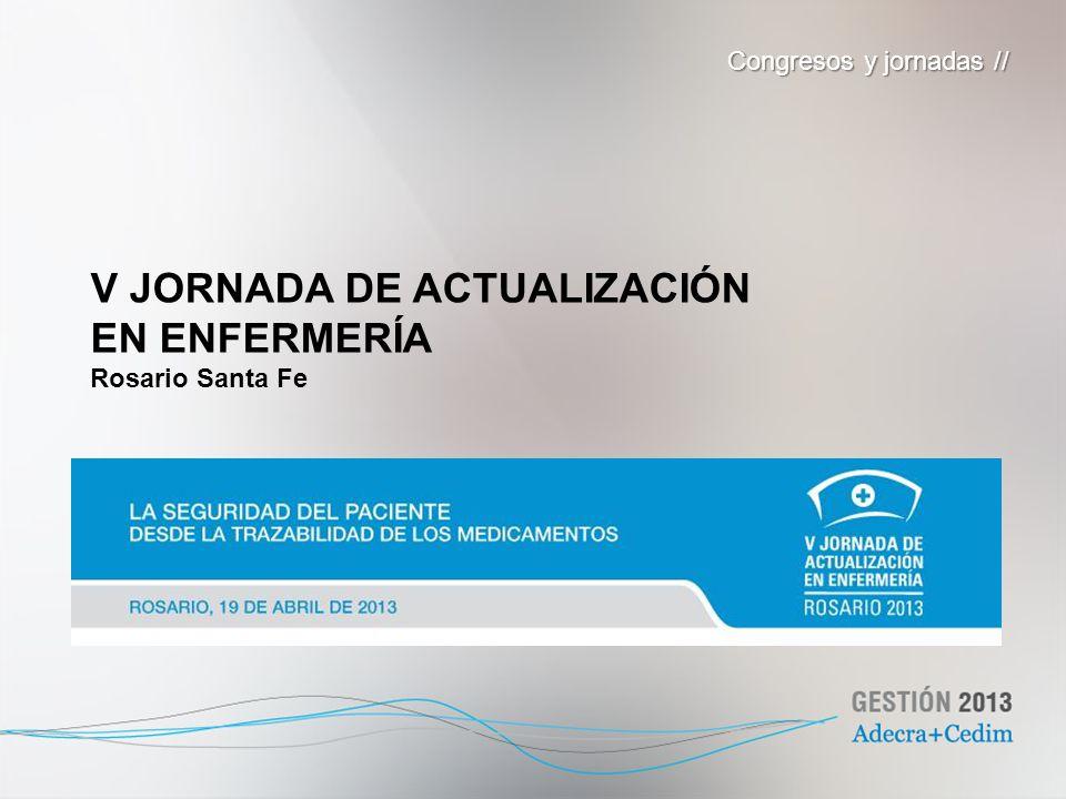 V JORNADA DE ACTUALIZACIÓN EN ENFERMERÍA