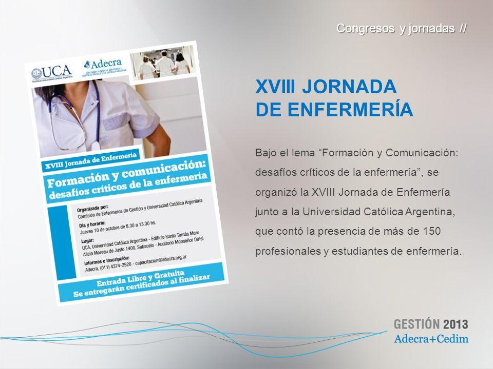 XVIII JORNADA DE ENFERMERÍA Congresos y jornadas //