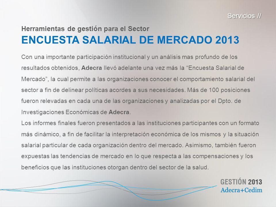 ENCUESTA SALARIAL DE MERCADO 2013