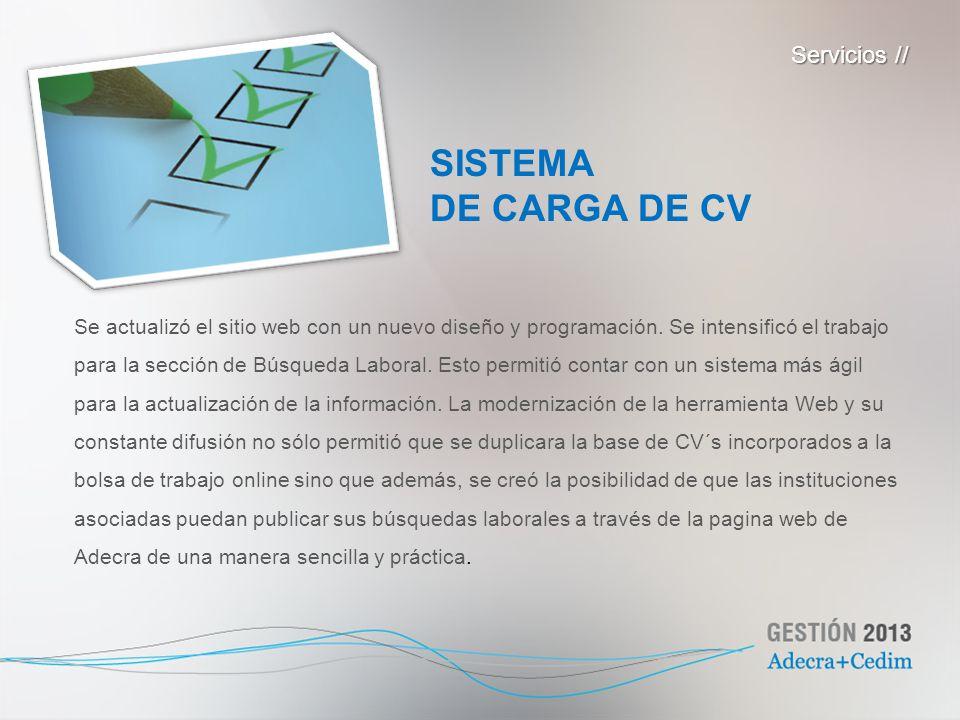 SISTEMA DE CARGA DE CV Servicios //