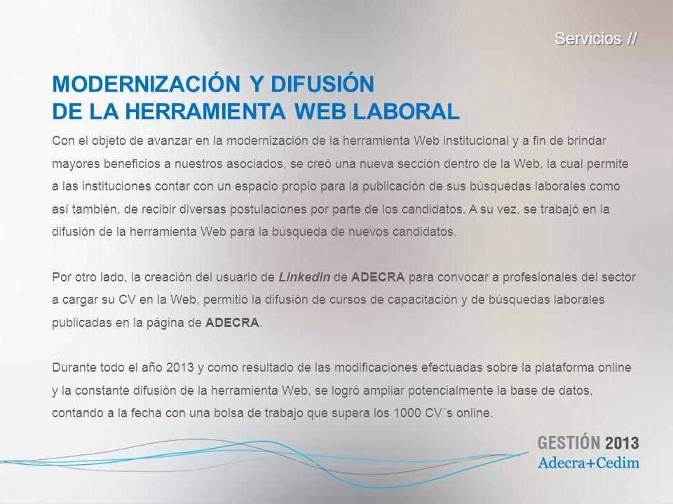 MODERNIZACIÓN Y DIFUSIÓN DE LA HERRAMIENTA WEB LABORAL