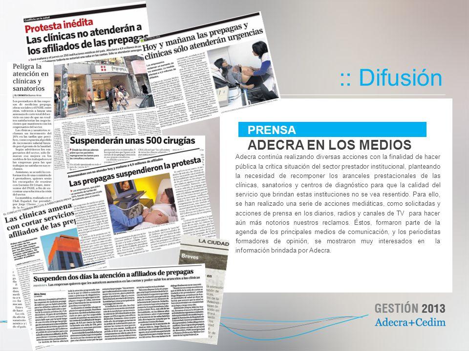 :: Difusión ADECRA EN LOS MEDIOS PRENSA