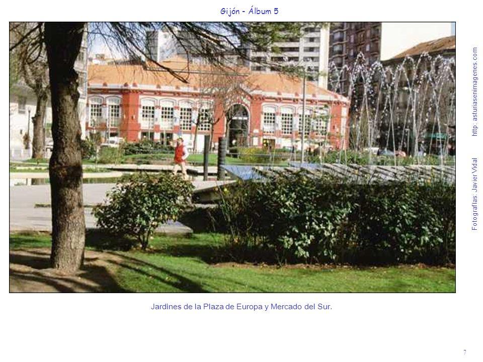 Jardines de la Plaza de Europa y Mercado del Sur.
