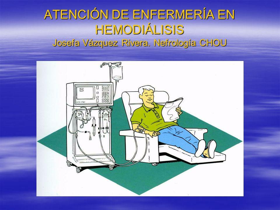 ATENCIÓN DE ENFERMERÍA EN HEMODIÁLISIS Josefa Vázquez Rivera