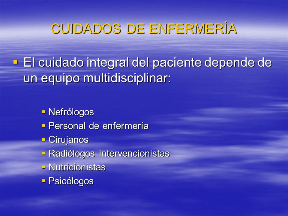 CUIDADOS DE ENFERMERÍA