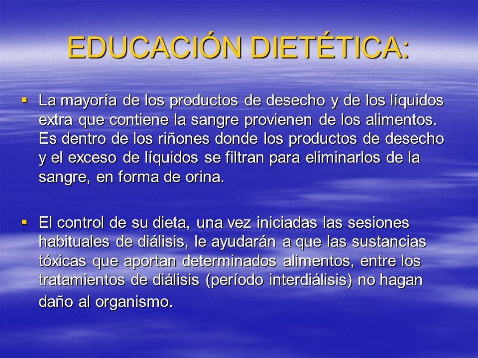 EDUCACIÓN DIETÉTICA:
