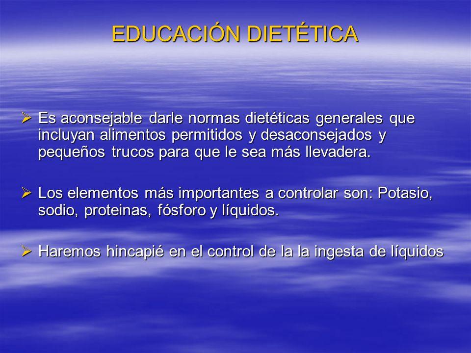 EDUCACIÓN DIETÉTICA