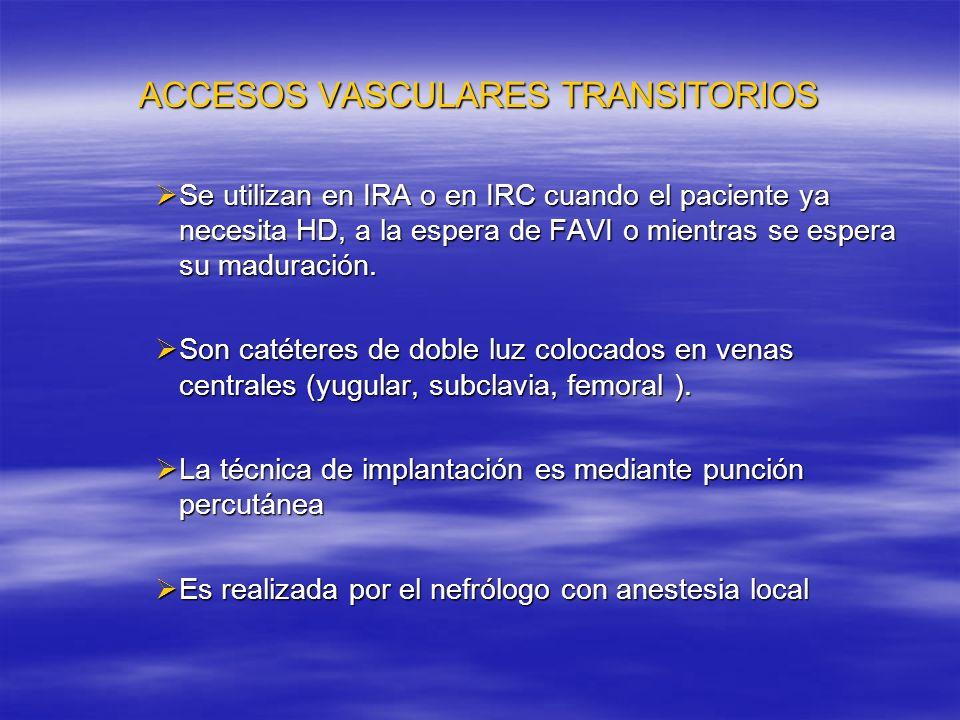 ACCESOS VASCULARES TRANSITORIOS
