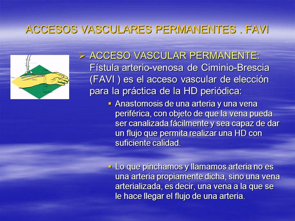 ACCESOS VASCULARES PERMANENTES . FAVI