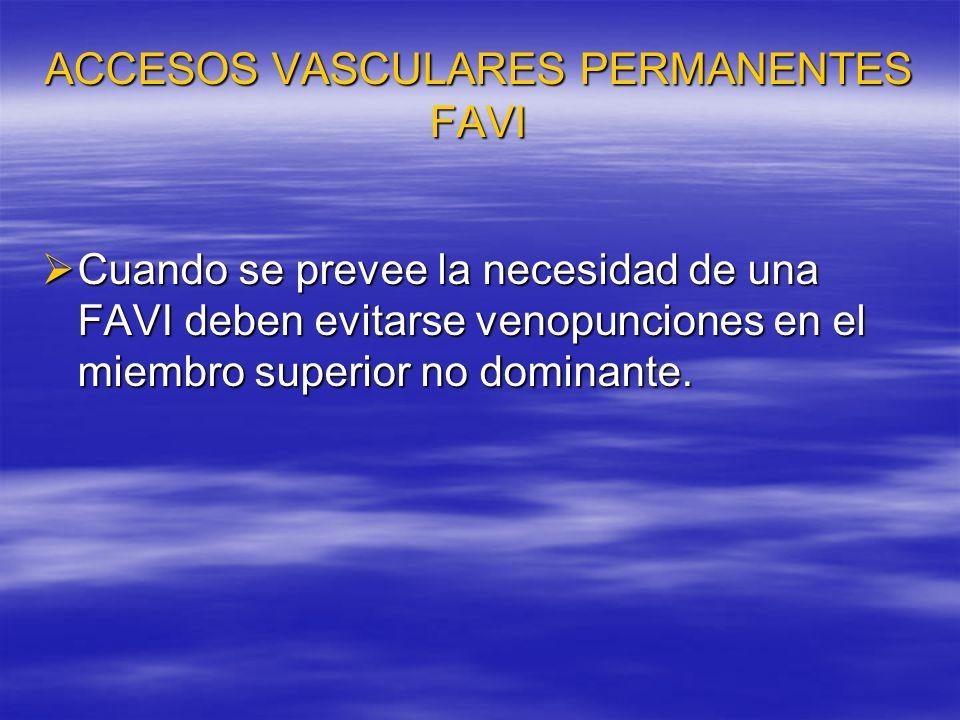 ACCESOS VASCULARES PERMANENTES FAVI