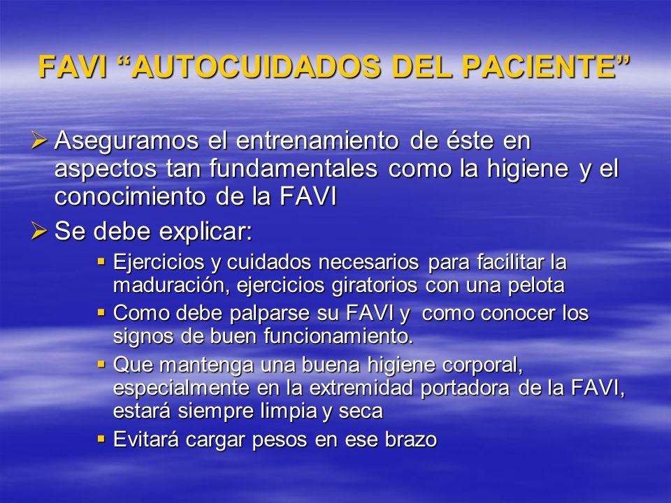 FAVI AUTOCUIDADOS DEL PACIENTE