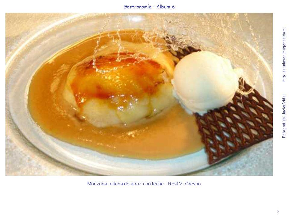 Manzana rellena de arroz con leche - Rest V. Crespo.