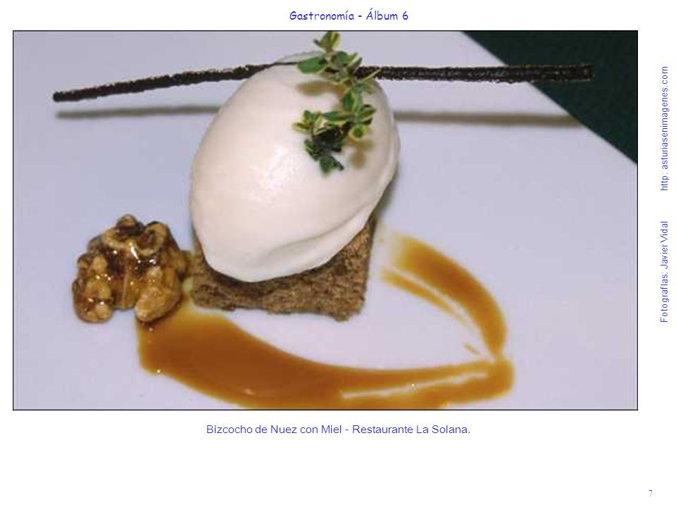 Bizcocho de Nuez con Miel - Restaurante La Solana.