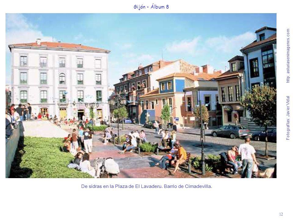 De sidras en la Plaza de El Lavaderu. Barrio de Cimadevilla.