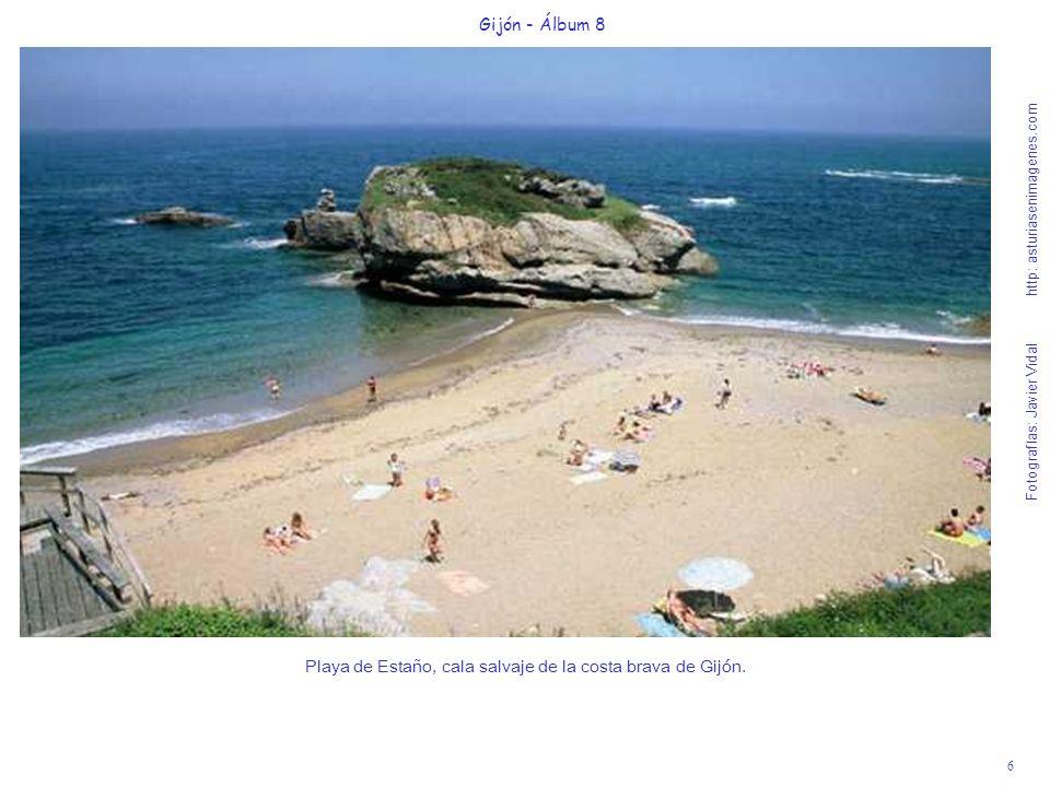 Playa de Estaño, cala salvaje de la costa brava de Gijón.