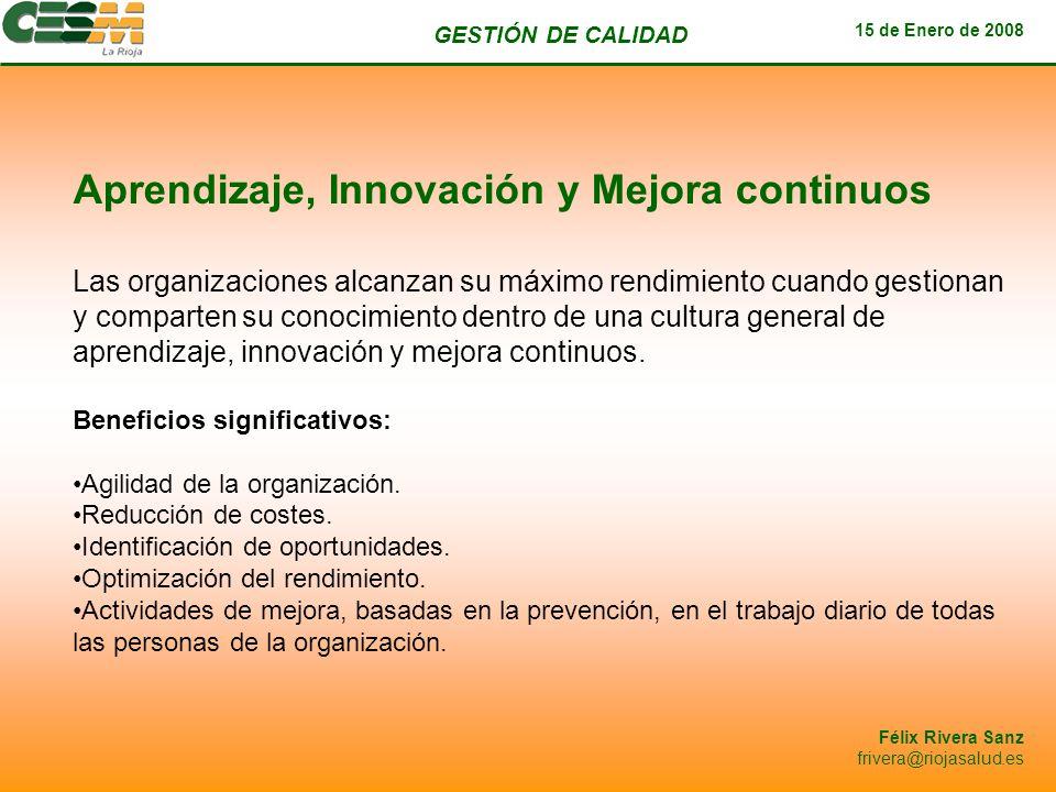 Aprendizaje, Innovación y Mejora continuos