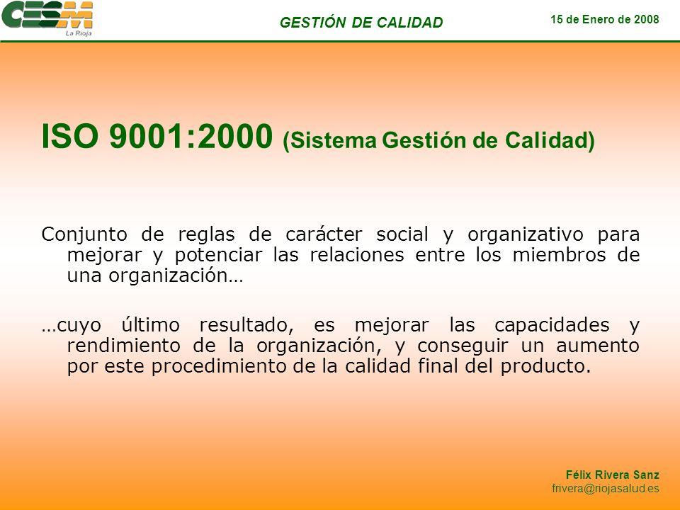 ISO 9001:2000 (Sistema Gestión de Calidad)