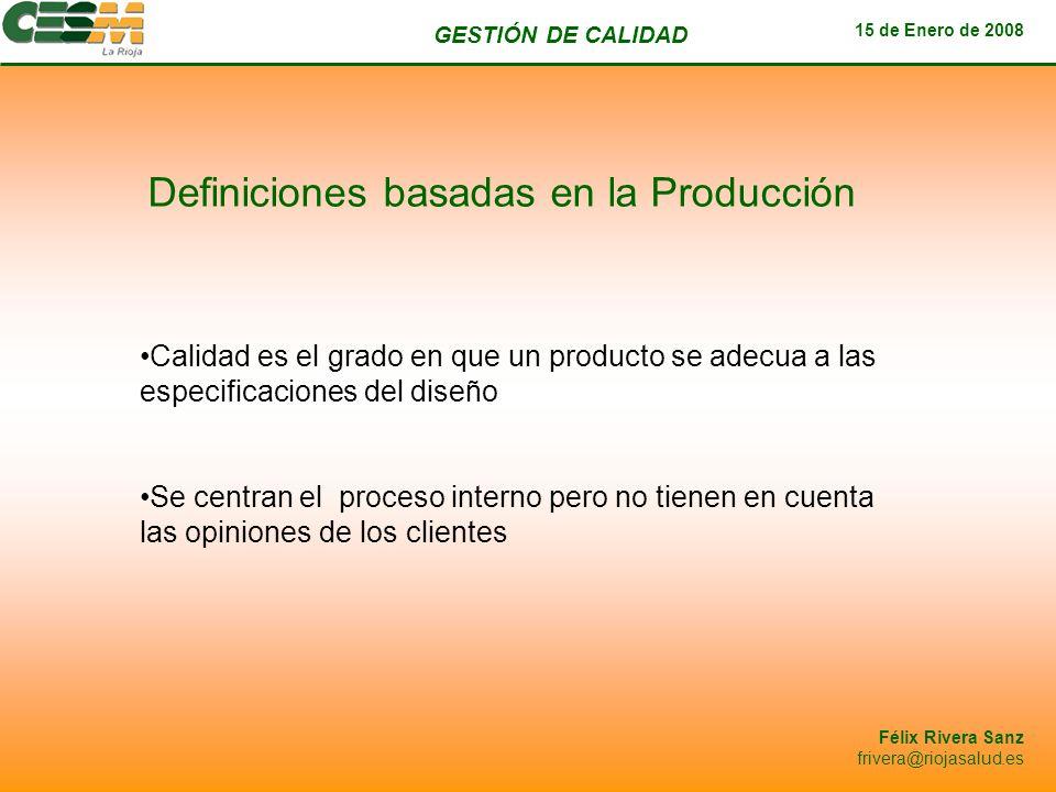 Definiciones basadas en la Producción