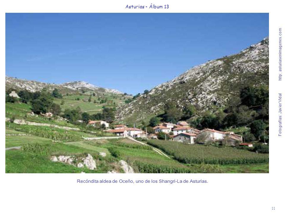 Recóndita aldea de Oceño, uno de los Shangri-La de Asturias.