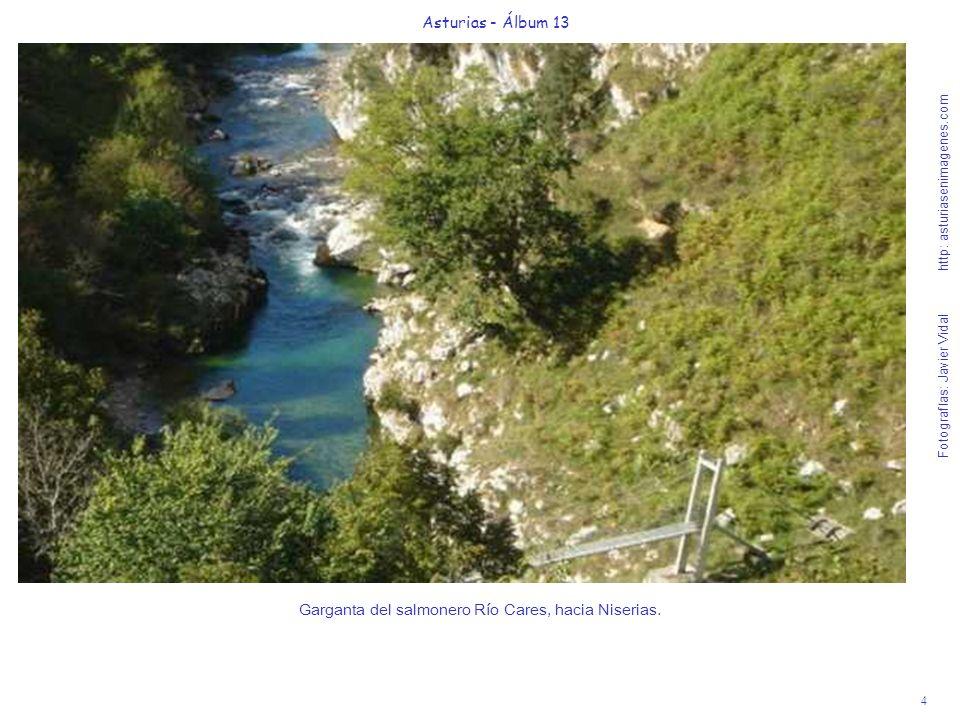 Garganta del salmonero Río Cares, hacia Niserias.