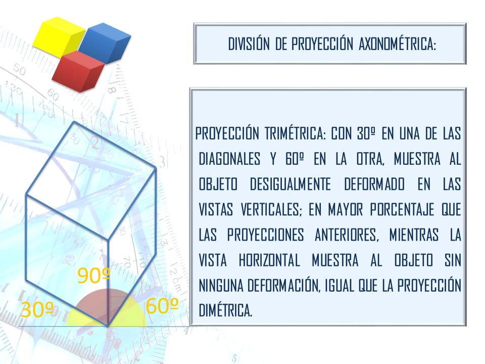 DIVISIÓN DE PROYECCIÓN AXONOMÉTRICA: