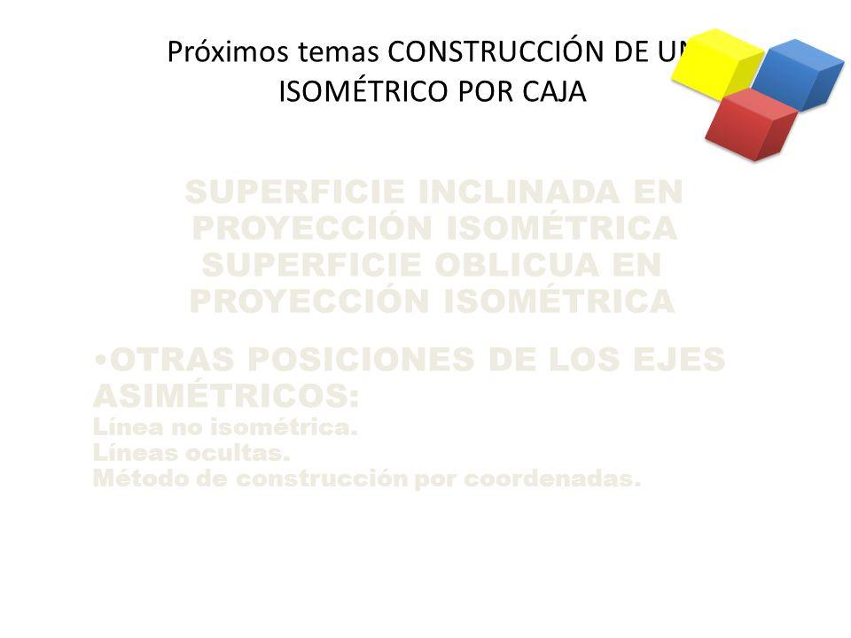 Próximos temas CONSTRUCCIÓN DE UN ISOMÉTRICO POR CAJA