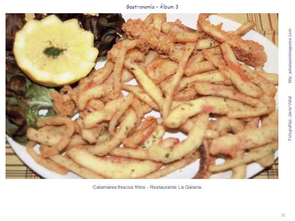Calamares frescos fritos - Restaurante La Galana.