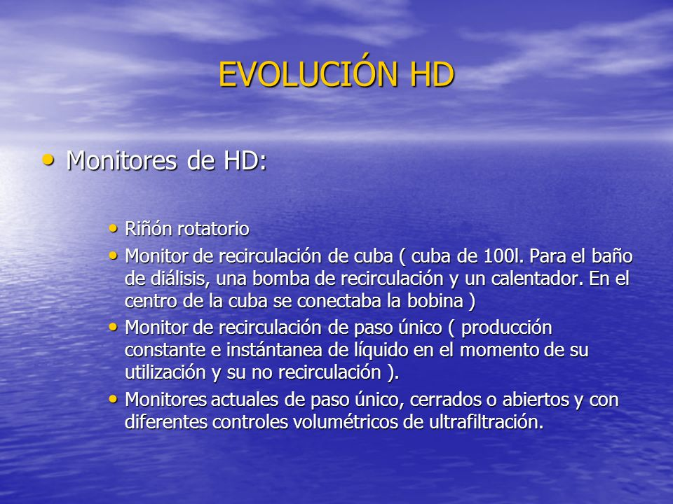 EVOLUCIÓN HD Monitores de HD: Riñón rotatorio
