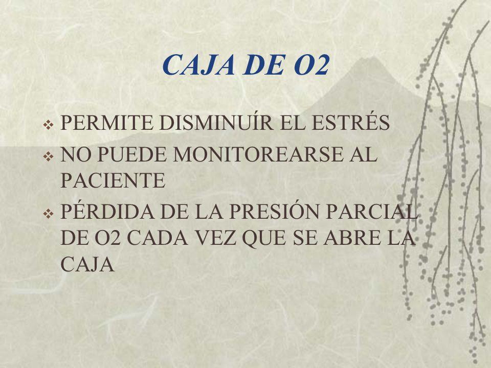 CAJA DE O2 PERMITE DISMINUÍR EL ESTRÉS