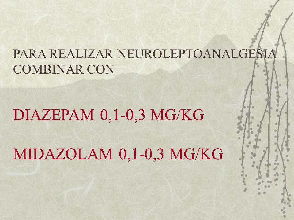DIAZEPAM 0,1-0,3 MG/KG MIDAZOLAM 0,1-0,3 MG/KG