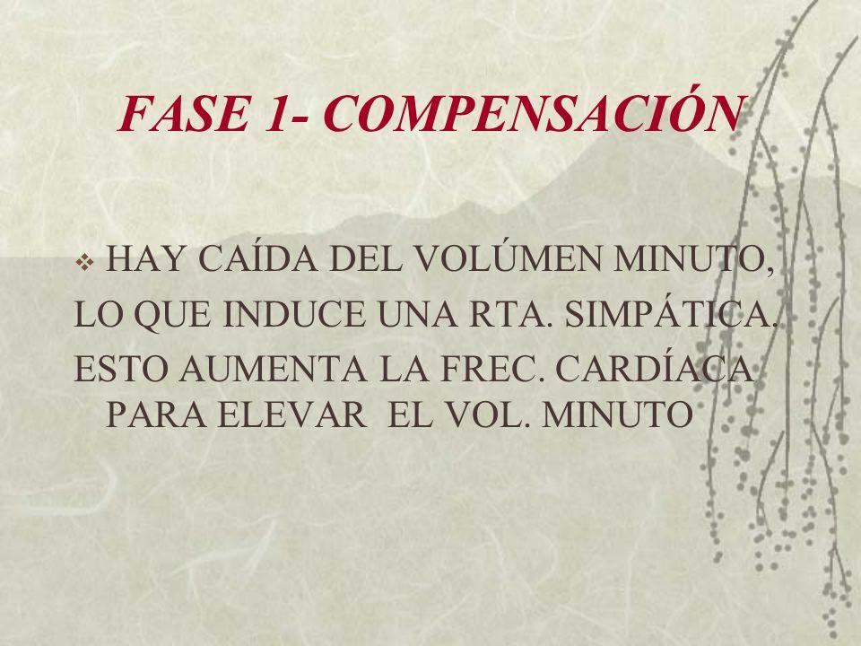FASE 1- COMPENSACIÓN HAY CAÍDA DEL VOLÚMEN MINUTO,