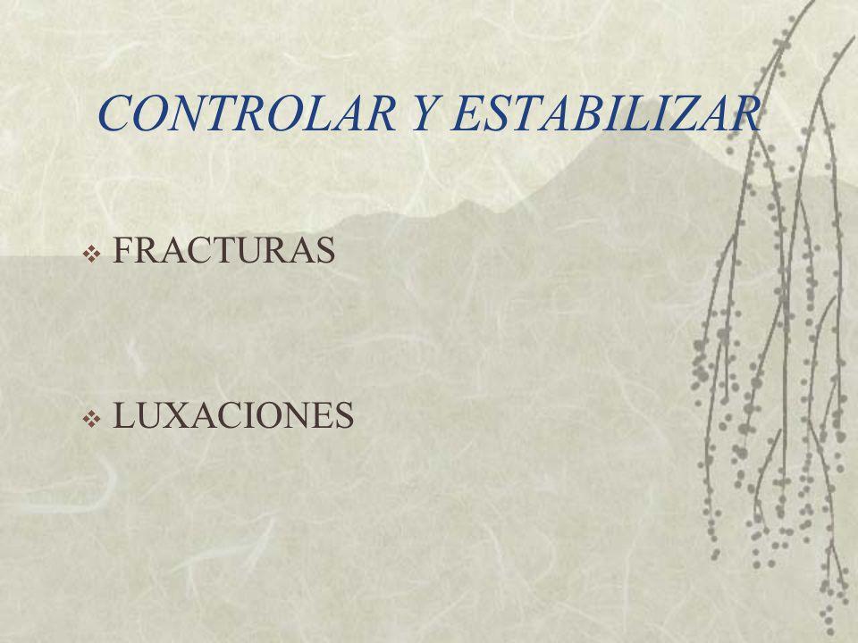 CONTROLAR Y ESTABILIZAR