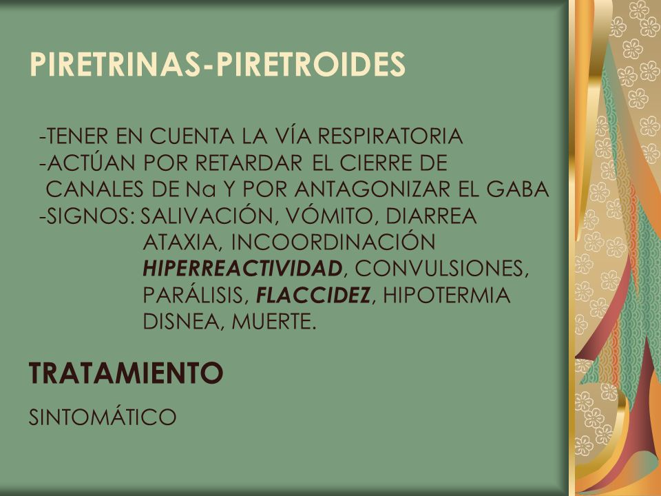 PIRETRINAS-PIRETROIDES