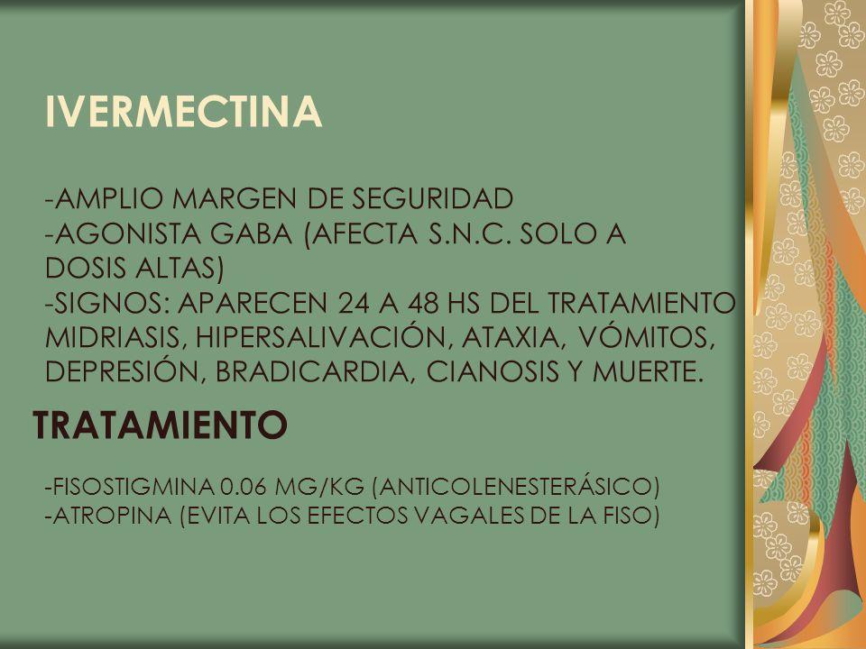 IVERMECTINA TRATAMIENTO -AMPLIO MARGEN DE SEGURIDAD
