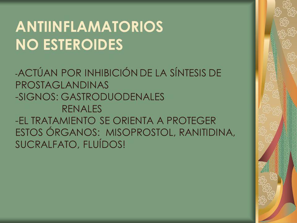 ANTIINFLAMATORIOS NO ESTEROIDES PROSTAGLANDINAS