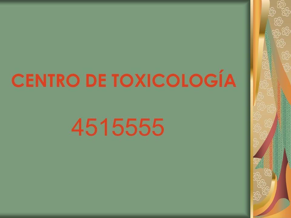 CENTRO DE TOXICOLOGÍA 4515555