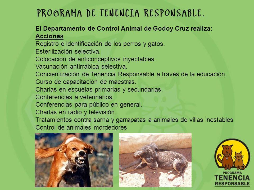 El Departamento de Control Animal de Godoy Cruz realiza: