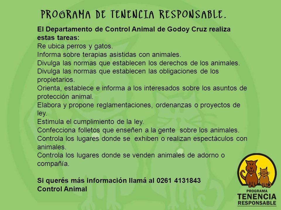 El Departamento de Control Animal de Godoy Cruz realiza estas tareas: