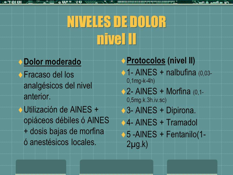 NIVELES DE DOLOR nivel II