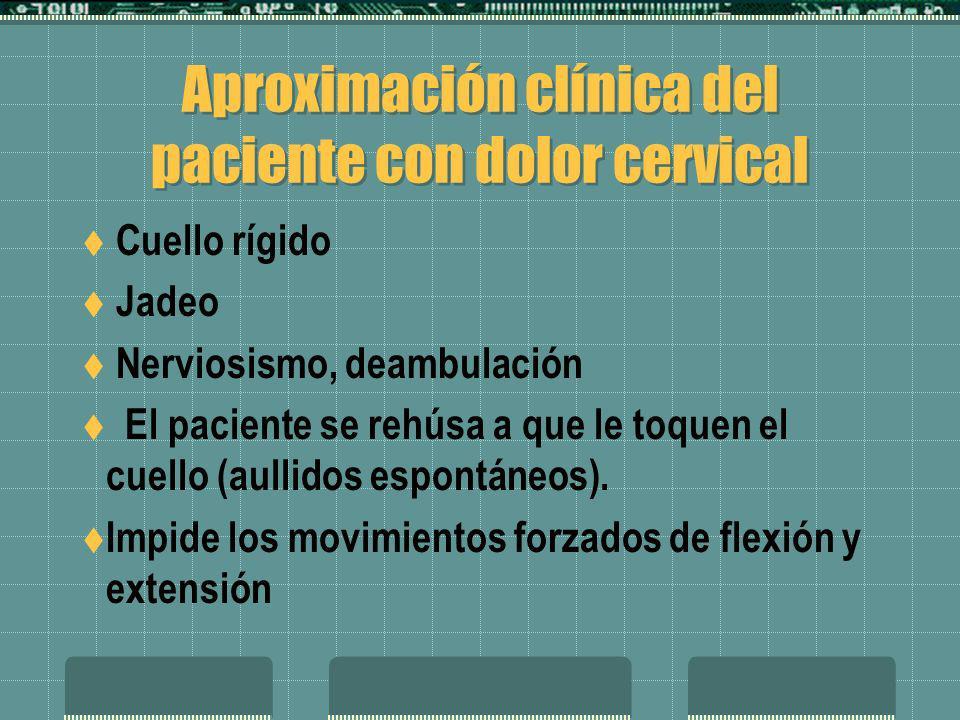 Aproximación clínica del paciente con dolor cervical