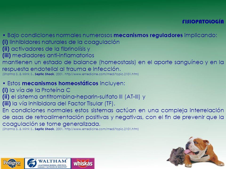 (i) iinhibidores naturales de la coagulación
