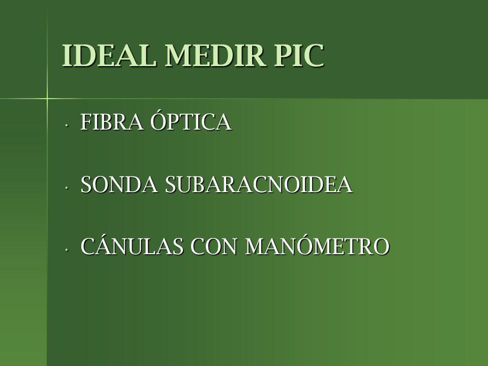 IDEAL MEDIR PIC FIBRA ÓPTICA SONDA SUBARACNOIDEA CÁNULAS CON MANÓMETRO
