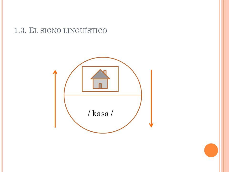 1.3. El signo lingüístico / kasa /