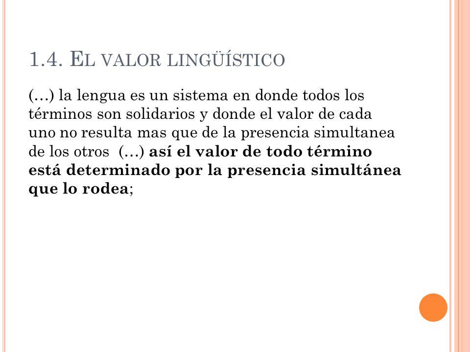 1.4. El valor lingüístico