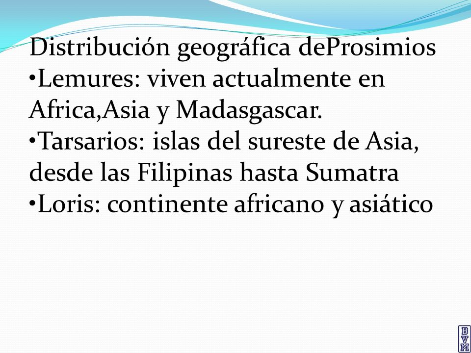 Distribución geográfica deProsimios