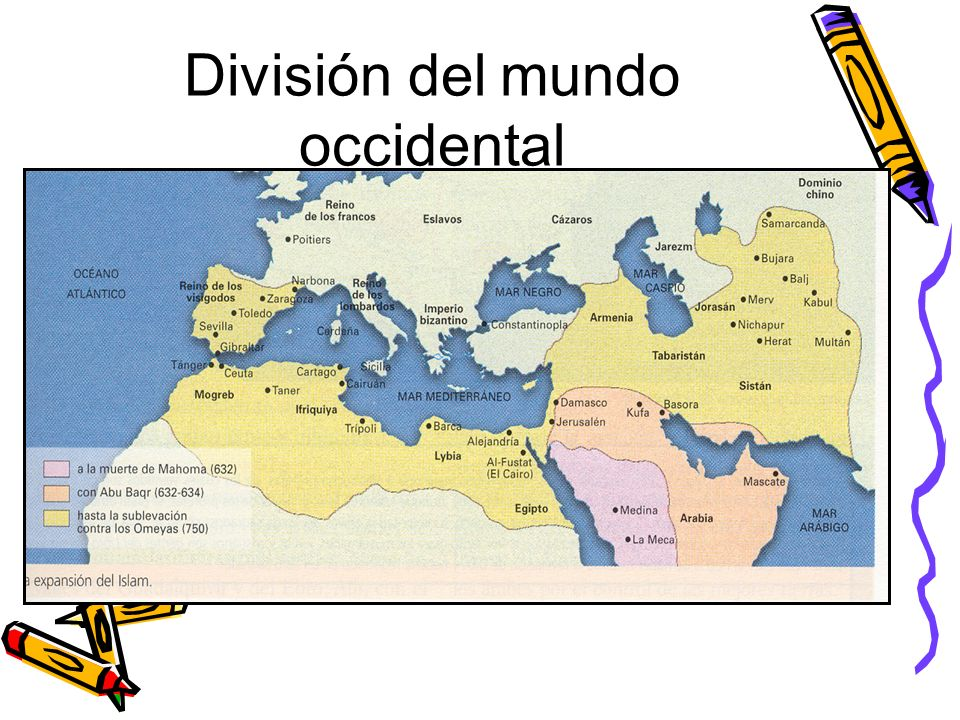 División del mundo occidental