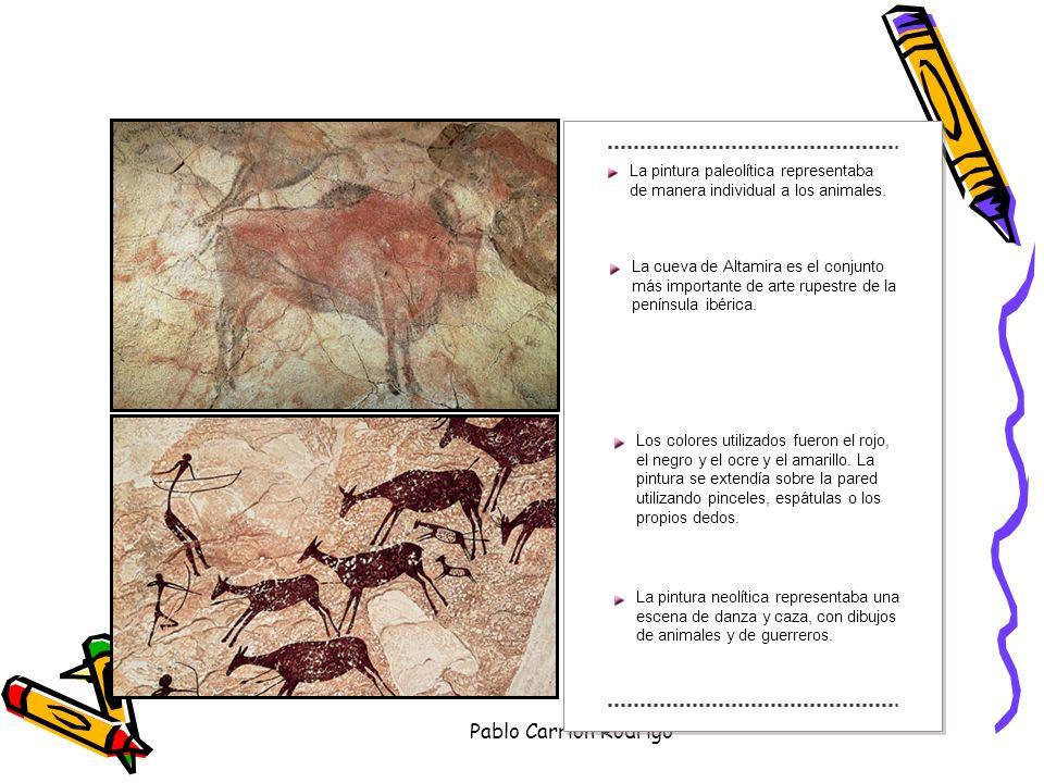 La pintura paleolítica representaba de manera individual a los animales.